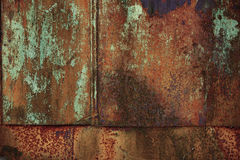 Old metal surface with rust Stock Photography