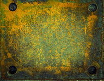 Old metal surfaces with rust and paint Royalty Free Stock Photos