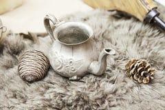 Old metal teapot Stock Image