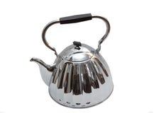 Old metal teapot on white Royalty Free Stock Image