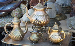 Old metal teapots Stock Image