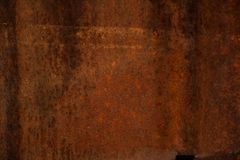Old metal texture - copper close-up. Background. Iron surface rust. Old metal texture - copper close-up. Background royalty free stock photos