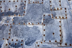Old Metal Texture with Rivets Stock Image