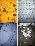 Old metal textures set. Old dirty and scratched metal textures set Royalty Free Stock Photography