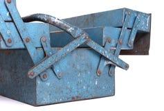 Old metal toolbox royalty free stock photos