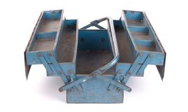 Old metal toolbox stock images