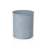 Old metal trash bin Stock Photo