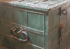 Old Metal Trunk Stock Photography