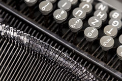 Old metal typewriter Stock Image