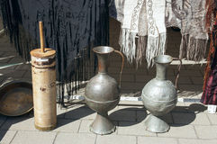 Old metal vases Stock Images