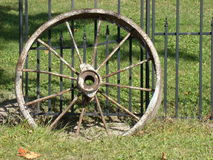 old metal wagon wheel Stock Photography