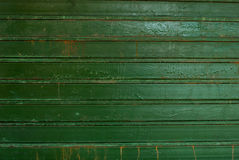 Old metal wall, green Stock Photo