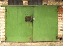 Old metal warehouse door Stock Photography