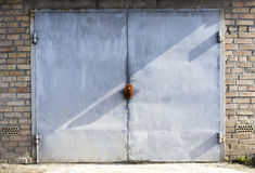 Old metal warehouse door Royalty Free Stock Photo