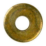 Old metal washer Royalty Free Stock Image