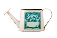 Old metal watering can Royalty Free Stock Image