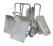 Old Metal Wheelbarrows Royalty Free Stock Photo