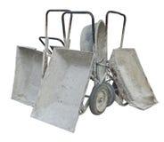 Old Metal Wheelbarrows Royalty Free Stock Photo