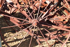 Old metal wheels Stock Photos