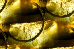 Old metal, wire ring abstract Stock Photo