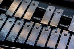 Old metal xylofone Stock Photos