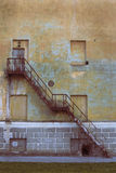 Old metalic rusty stairs Royalty Free Stock Image