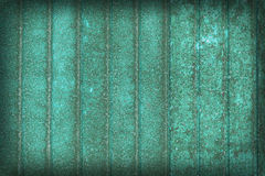 Old metall wall rusty background - green door Stock Image