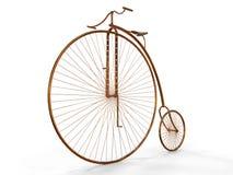 Old Metallic Bicycle Stock Photography