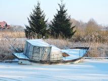 Old metallic boat Royalty Free Stock Photo
