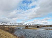 Old metallic bridge, Lithuania Royalty Free Stock Photography