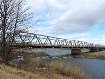 Old metallic bridge, Lithuania Stock Photos
