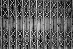 Old metallic door. Background in black and white Stock Images