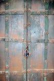 Old metallic door of a church in Moscow Kremlin. UNESCO World Heritage Site. Stock Images