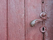 Old metallic door handle Royalty Free Stock Photos