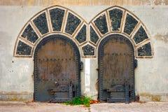 Old metallic doors Royalty Free Stock Image