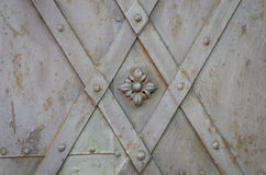 Old metallic gate floral pattern Royalty Free Stock Photo