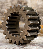 An Old Metallic Gear. Close up of an old used metallic gear Royalty Free Stock Photos