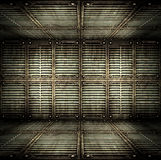 Old metallic interior. Old metallic interior, texture of metal Stock Images