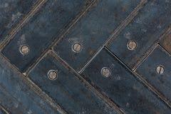 Old metallic parquet closeup Stock Photo