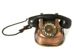 Old Metallic Phone Stock Photo