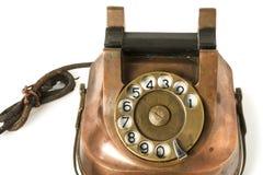 Old Metallic Phone Stock Image