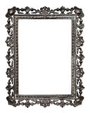 Old metallic picture frame, on white (No#13). Old metallic picture frame  (No#13), isolated on white background Royalty Free Stock Photo