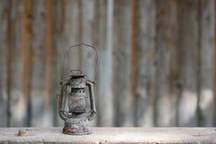 Old metallic rusty kerosene lamp Royalty Free Stock Photography
