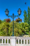 Old Metallic Street Lamp in a Public Park royalty free stock photo