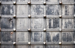 Old metallic wrought door closeup Royalty Free Stock Images