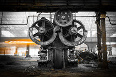 Old, metallurgical firm waiting for a demolition Royalty Free Stock Photography