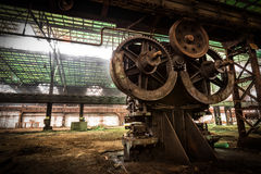 Old metallurgical firm waiting for a demolition Royalty Free Stock Image