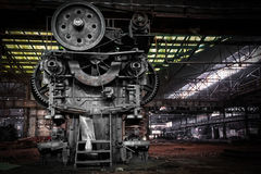 Old, metallurgical firm waiting for a demolition Royalty Free Stock Photos