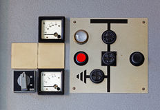 Old meter on the control panel Royalty Free Stock Images