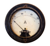 Old meter isolated on a white background Royalty Free Stock Image